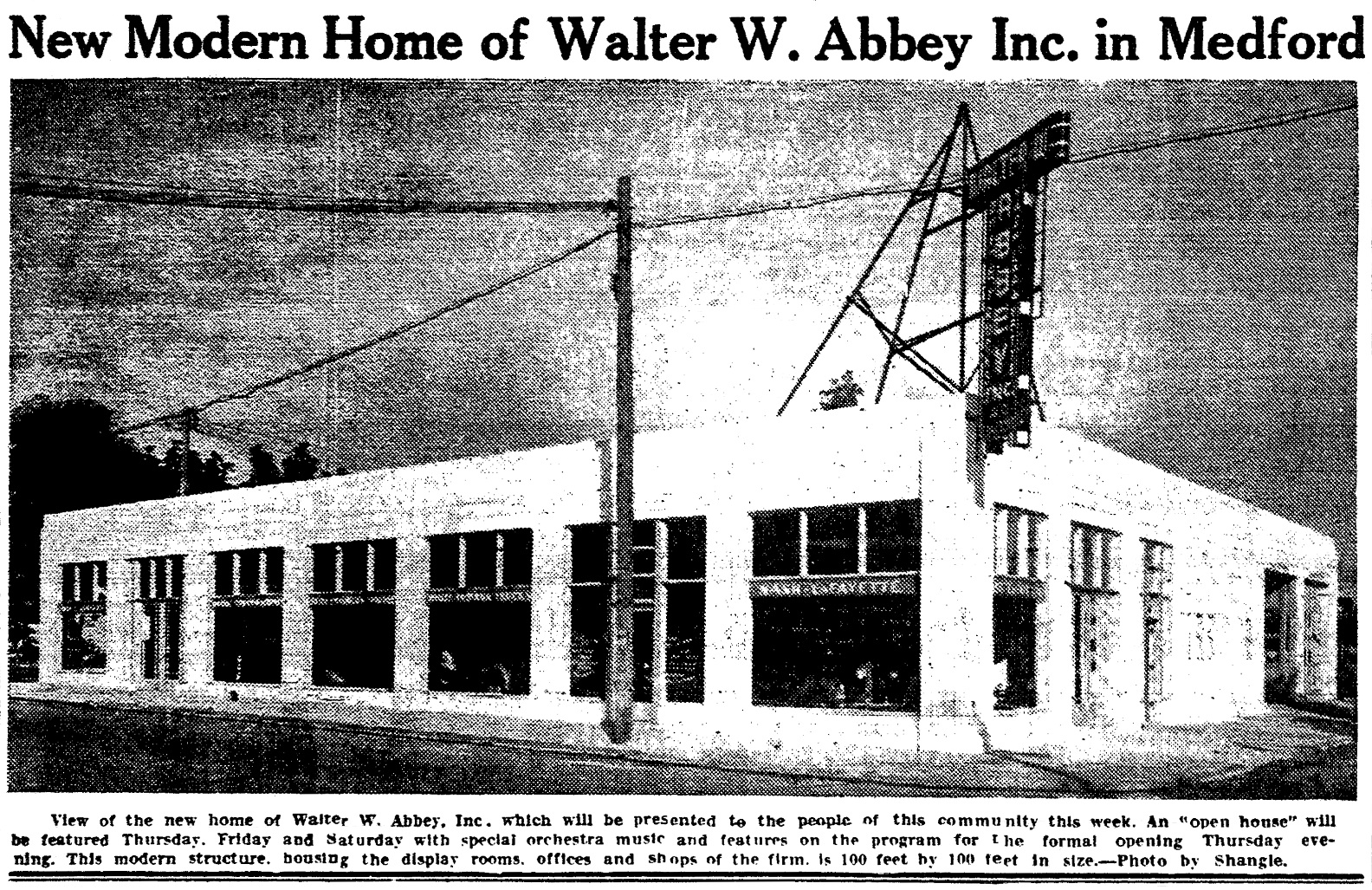 Notes on medford buildings for Newberry motors newberry michigan
