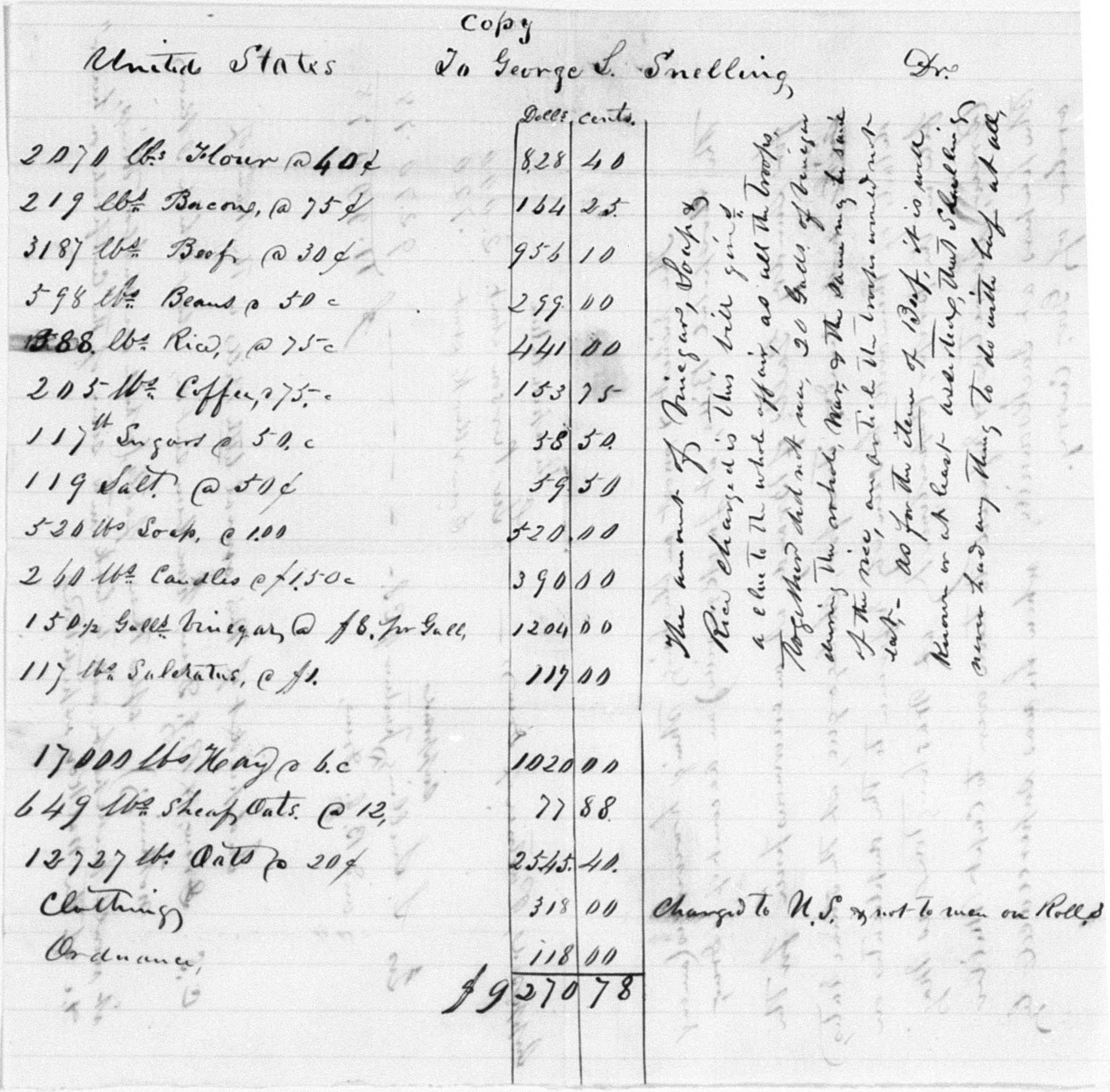 Goodall's accounting, Snelling's division, 1855 Rogue River Indian War